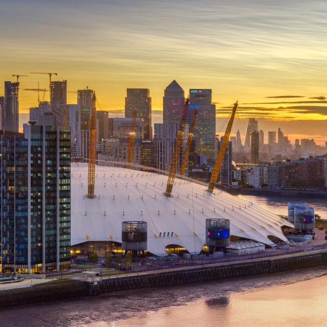"""""""Sunset - Greenwich, London, UK"""" stock image"""