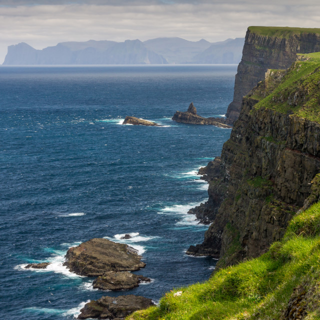 """Cliff of Mykines"" stock image"