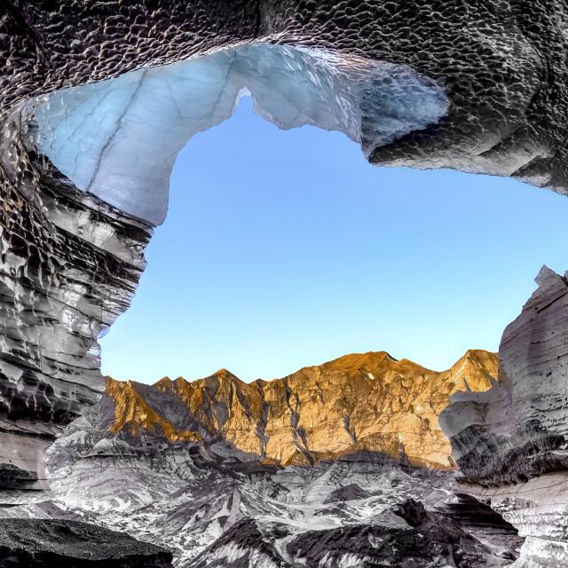 """Katla Ice Cave"" stock image"