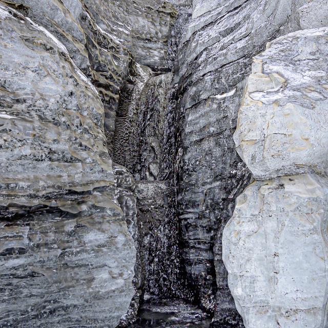 """Inside Katla Ice Cave"" stock image"