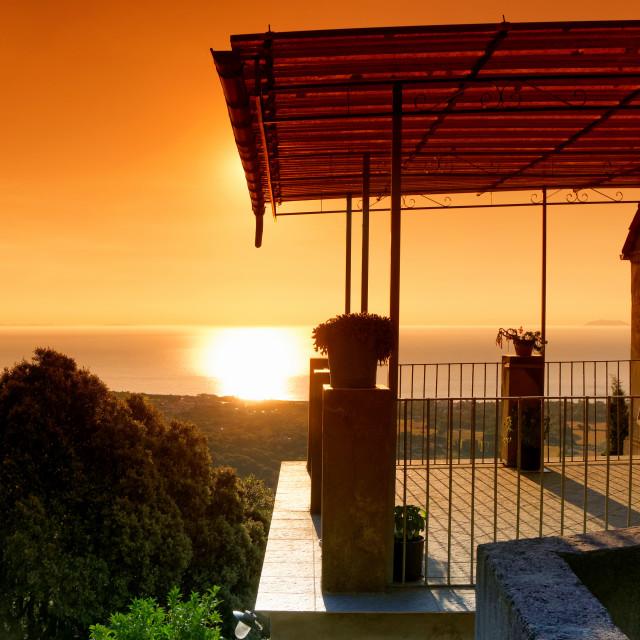 """Castagniccia balcony"" stock image"