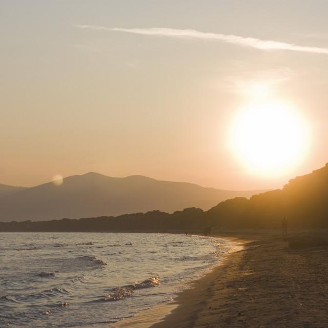 """Sunset at Schinias"" stock image"