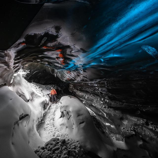 """Blue Streak Ice Cave"" stock image"