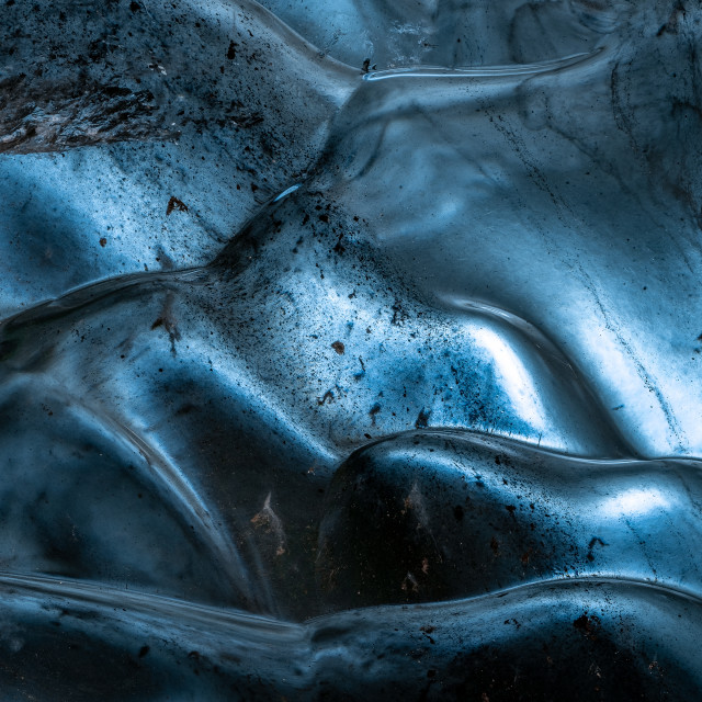"""""""Abstract from Blue Dragon Ice Cave"""" stock image"""