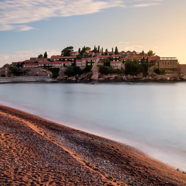 """Sveti Stefan island in Montenegro"" stock image"