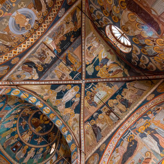 """Podmaine Monastery Frescoes"" stock image"