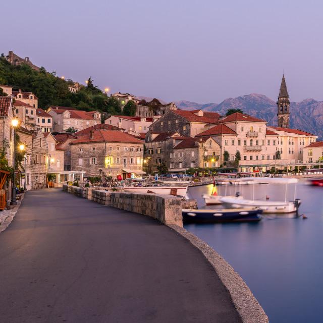 """Perast, Montenegro"" stock image"