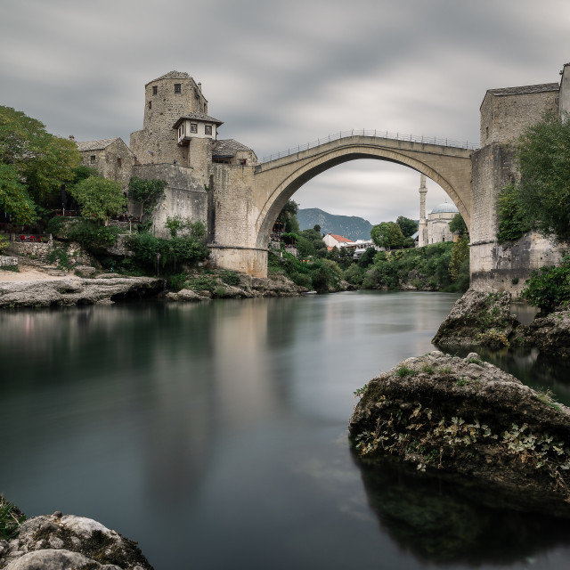 """Old Bridge of Mostar, Bosnia and Herzegovina"" stock image"