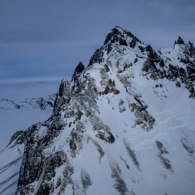 """Mountain Peak in Skaftafellsfjöll"" stock image"