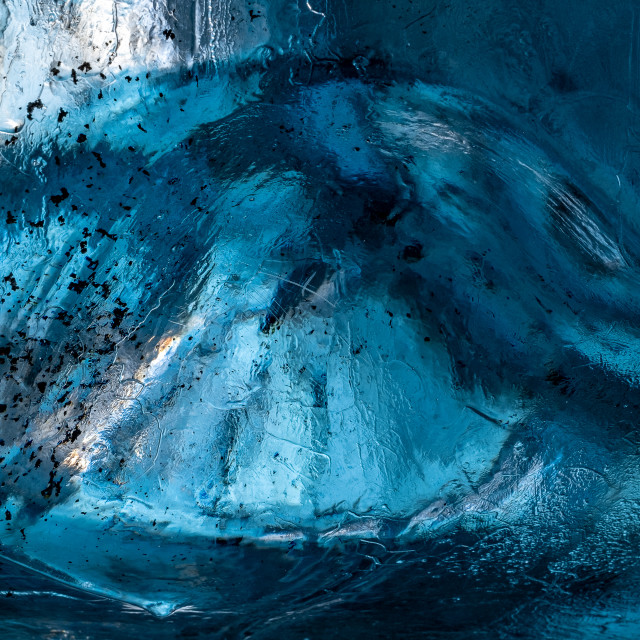 """""""Blue Ice Close Up Shot in Sapphire Ice Cave"""" stock image"""
