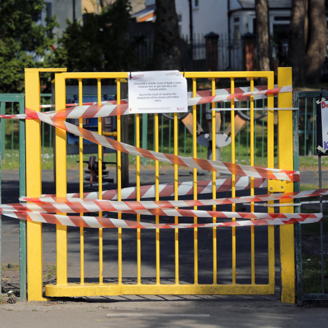 """Closed children's play area due to Coronavirus"" stock image"