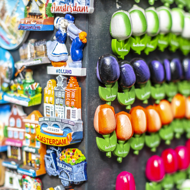"""Amsterdam magnet souvenirs"" stock image"