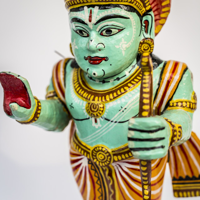 """Hand painted indian deity statue"" stock image"