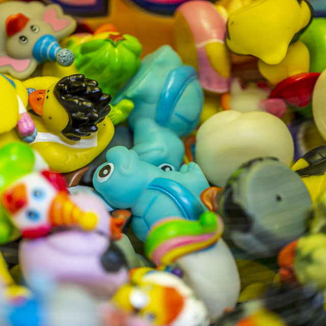 """Colorful rubber toys"" stock image"