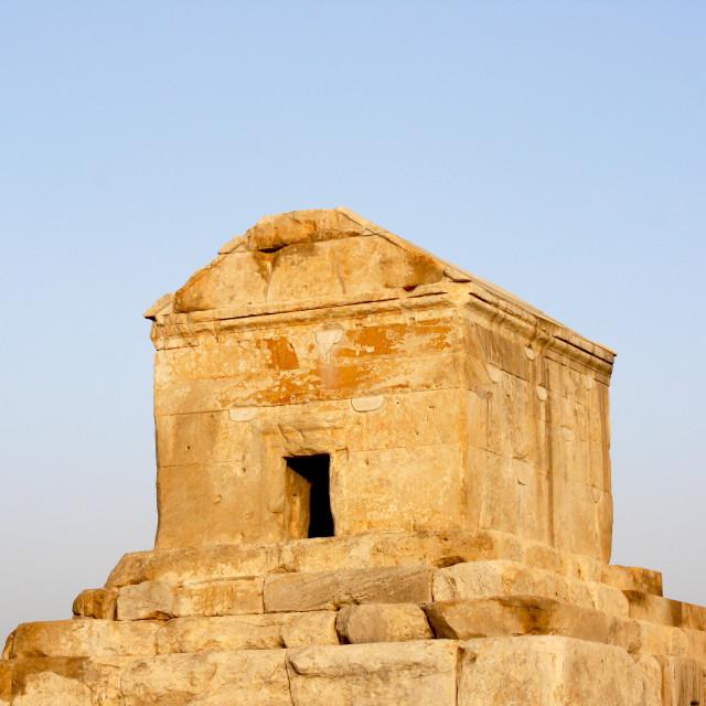 """""""Pasargad Cyrus's Tomb"""" stock image"""