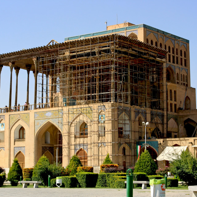"""""""Alighapoo palace in Esfahan"""" stock image"""