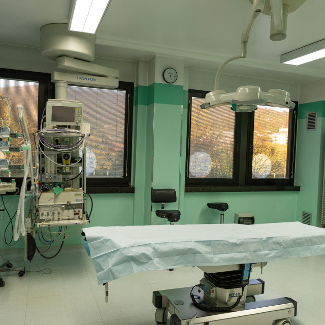 """""""Operating room equipped for emergency and intensive care"""" stock image"""