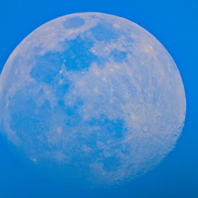 """Waxing Gibbous Moon"" stock image"