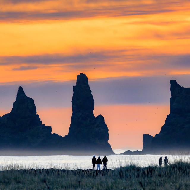 """Reynisdrangar Sunset 02"" stock image"