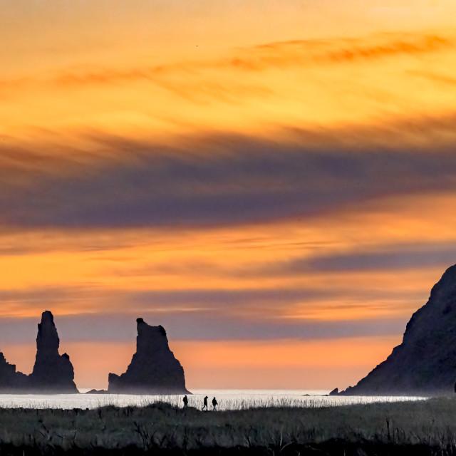 """Reynisdrangar Sunset 01"" stock image"