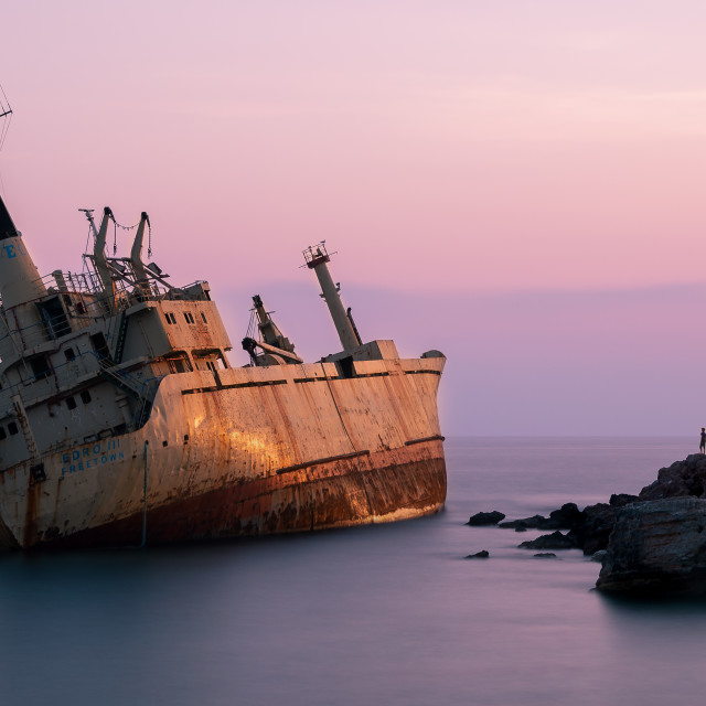 """The Edro III Shipwreck"" stock image"