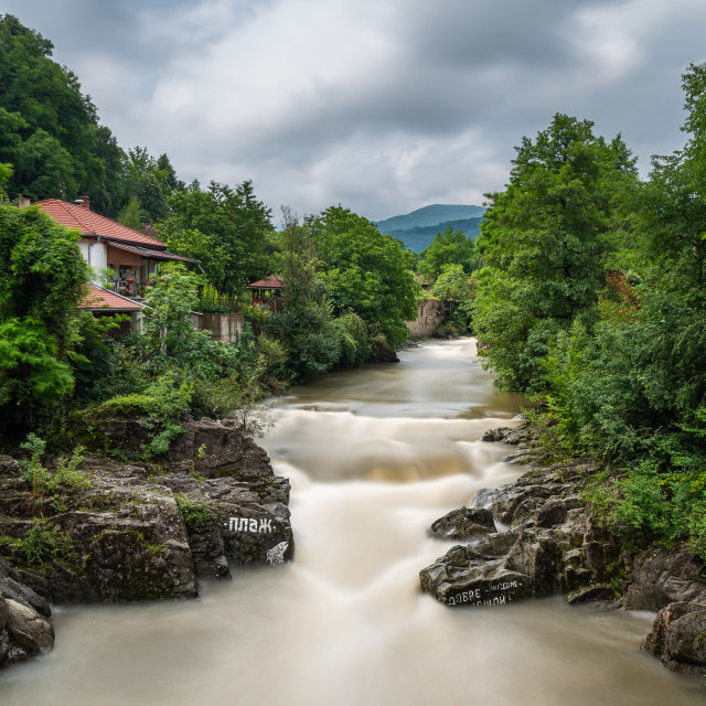 """Vidima River in Skandaloto, Bulgaria"" stock image"