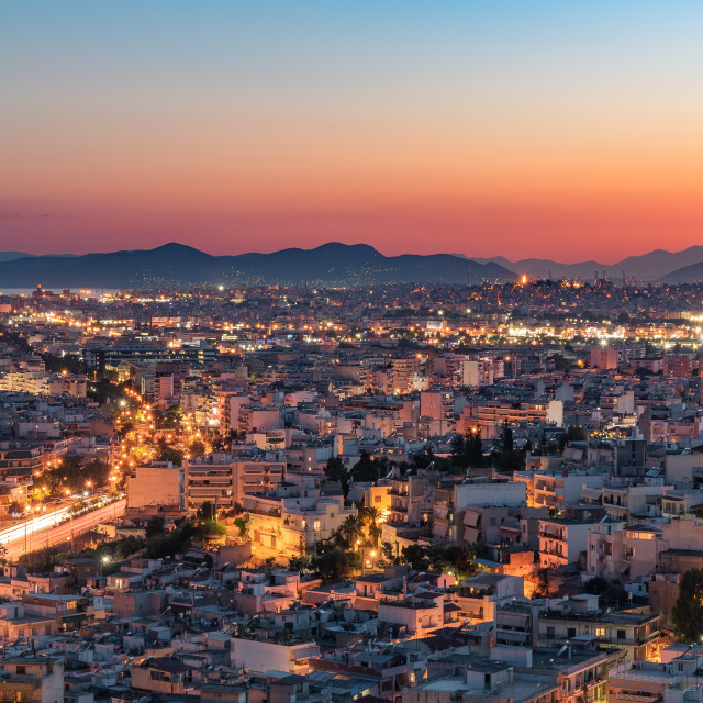 """Sunset in Athens"" stock image"
