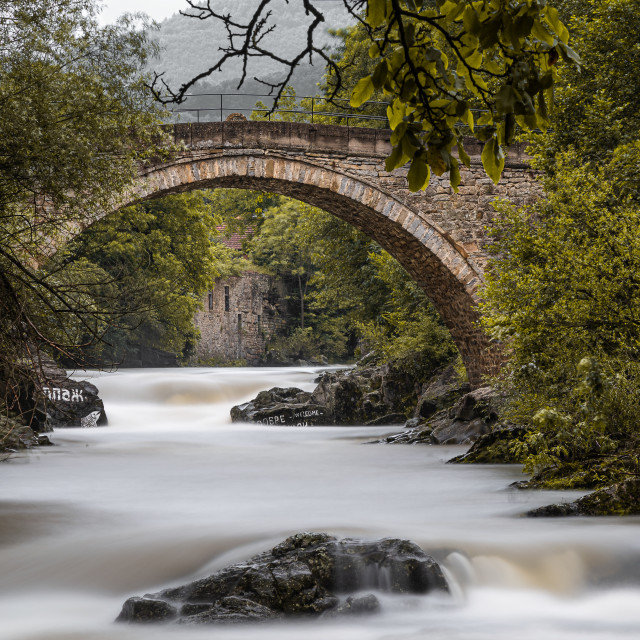 """An old bridge in Skandaloto, Bulgaria"" stock image"