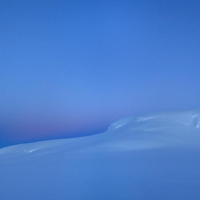 """""""Hvannadalshnúkur in Winter Light"""" stock image"""