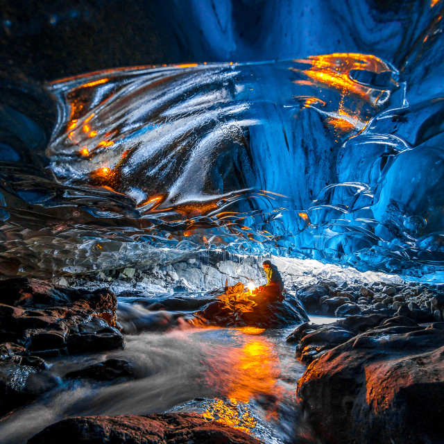"""""""Fire and Ice"""" stock image"""