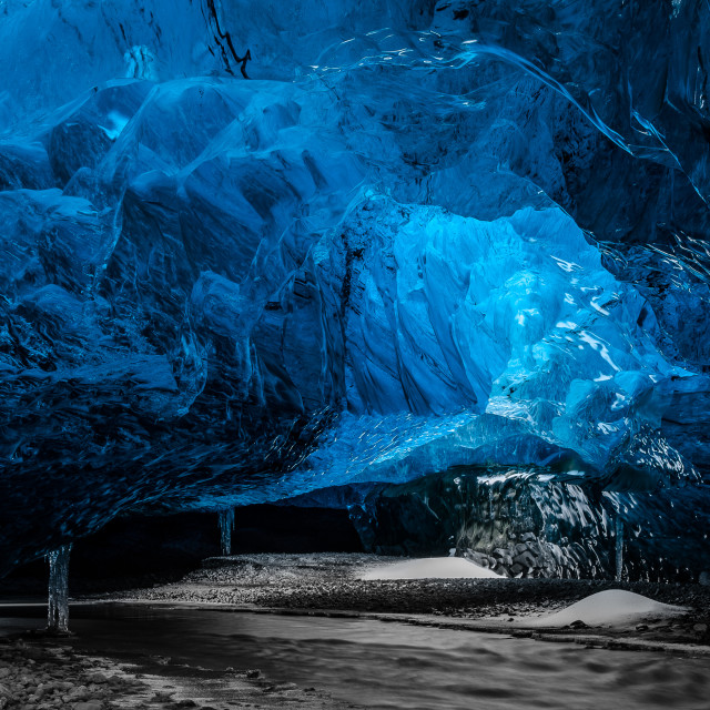 """""""Crystal Ice Cave HD"""" stock image"""