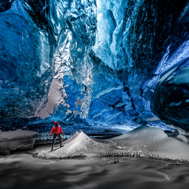 """""""Lightroom in Crystal Ice Cave"""" stock image"""