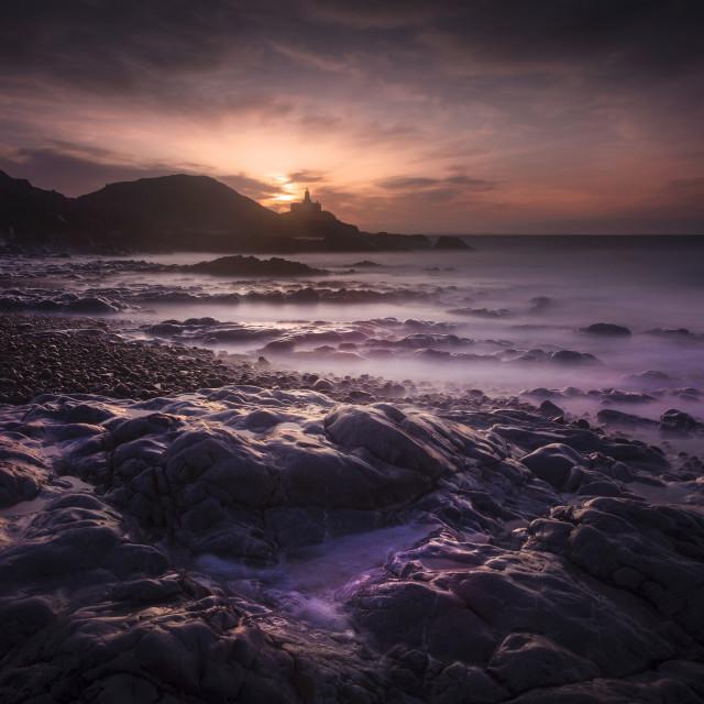 """""""Daybreak at Bracelet Bay"""" stock image"""