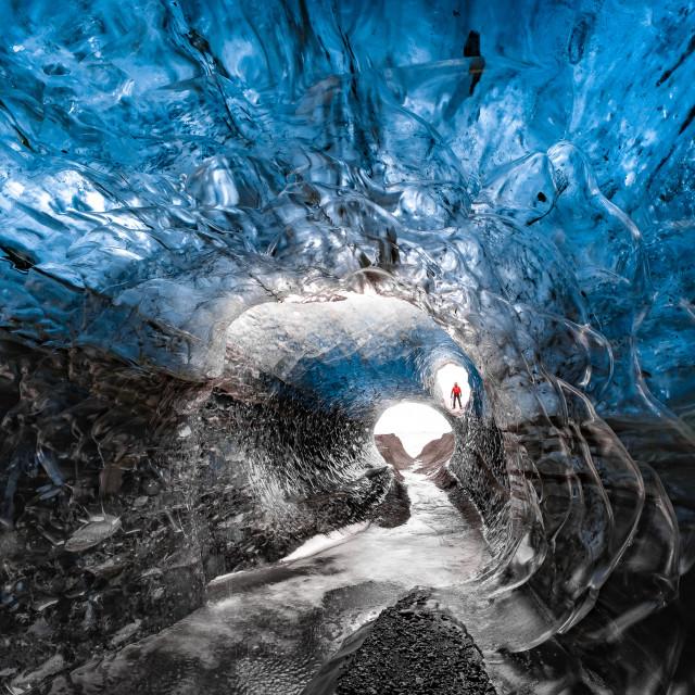 """Treasure Island Ice Cave"" stock image"