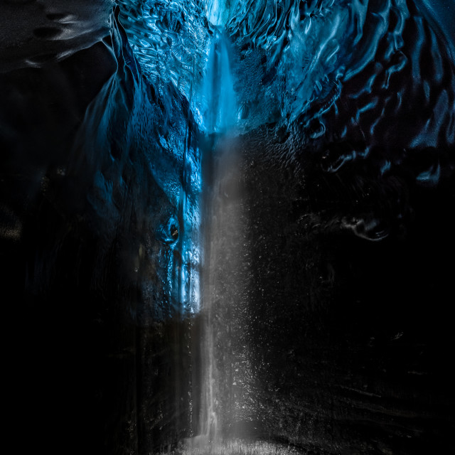"""""""Underworld Waterfall in Ice Cave"""" stock image"""