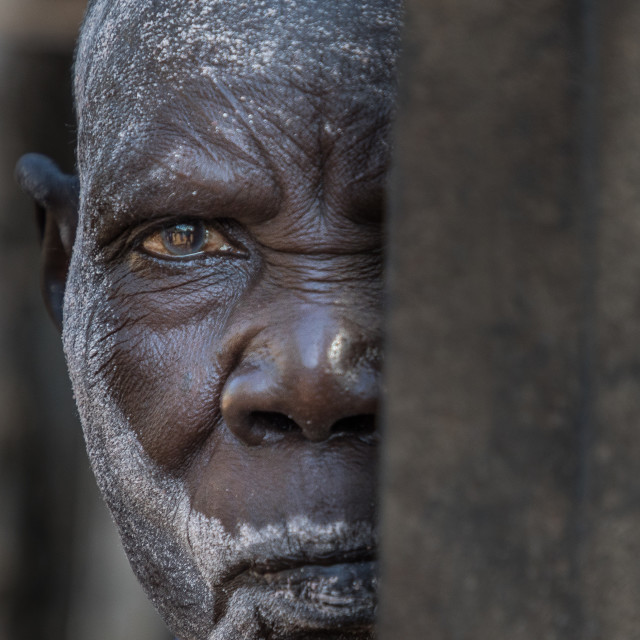"""Lopit old woman (South Sudan)"" stock image"