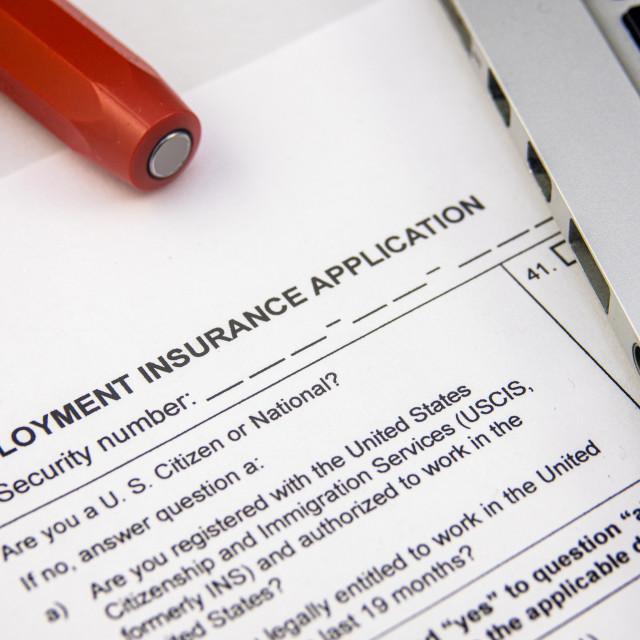 """Coronavirus Unemployment Application"" stock image"