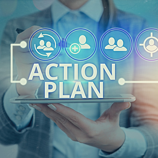"""Word writing text Action Plan. Business concept for detailed plan outlining..."" stock image"
