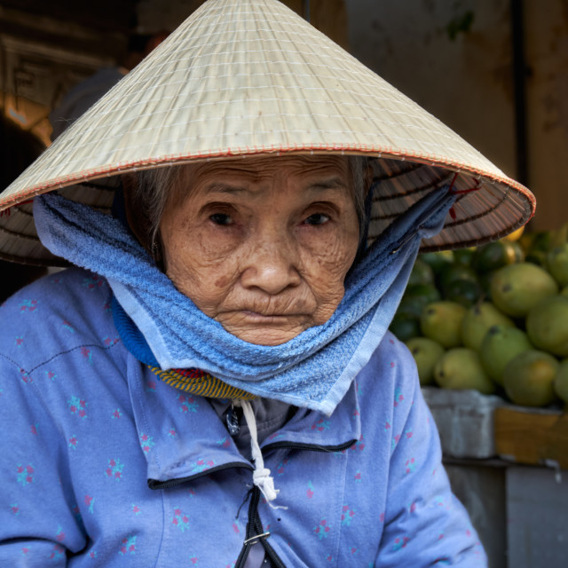 """""""Vegetable market in Hoi An"""" stock image"""