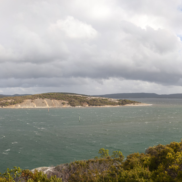 """Albany Western Australia View from Point King towards the Vancouver Peninsula and the entrance of Shoal Bay."" stock image"