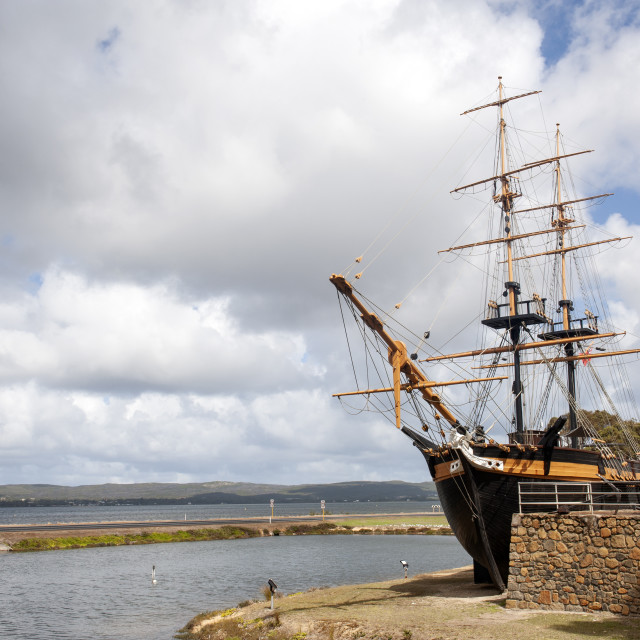 """Albany Western Australia Replica of the brig Amity"" stock image"