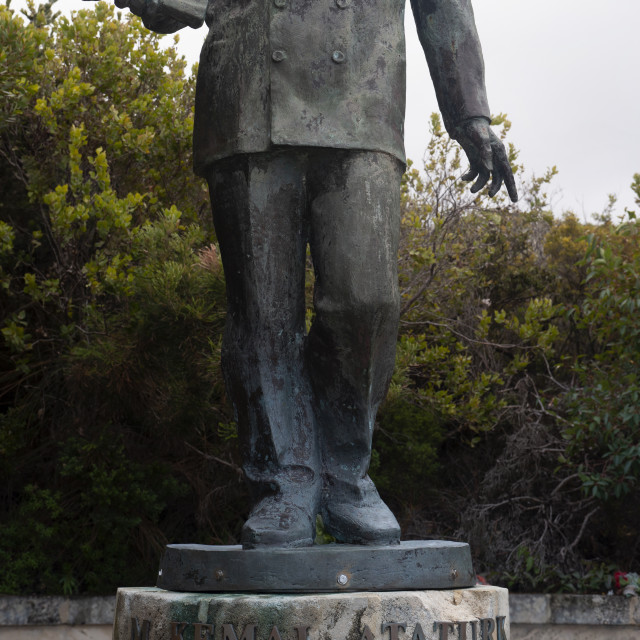 """Albany Western Australia Statue of Kemal Ataturk at the entrance of the..."" stock image"