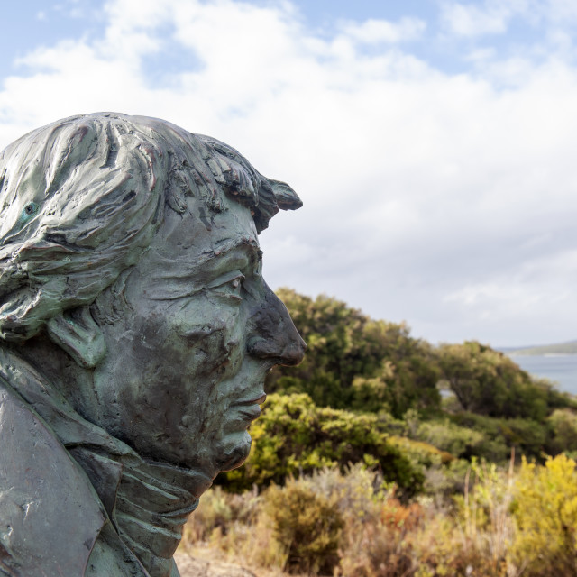 """Albany Western Australia Bust of French explorer Nicolas Baudin"" stock image"