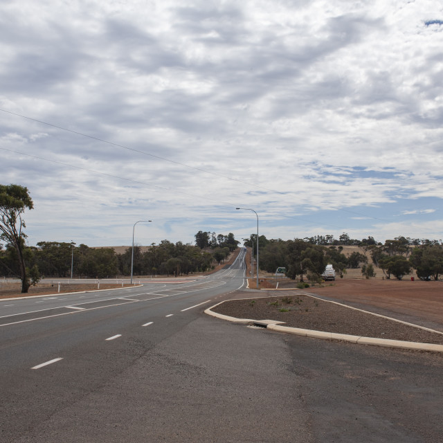 """Arthur River Western Australia Albany Highway passing through the Australian..."" stock image"