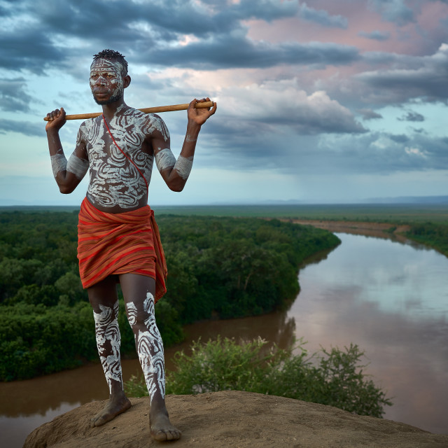 """""""Sunset over the Omo River"""" stock image"""
