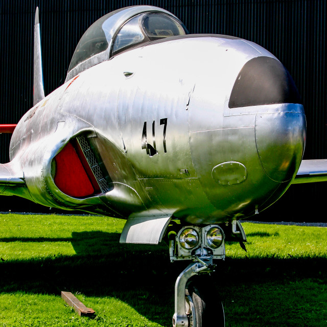 """""""Lockheed Canadair CL-30, Silver Star"""" stock image"""