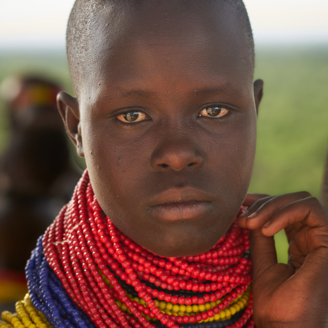 """""""Young Hamer Tribe Lady"""" stock image"""
