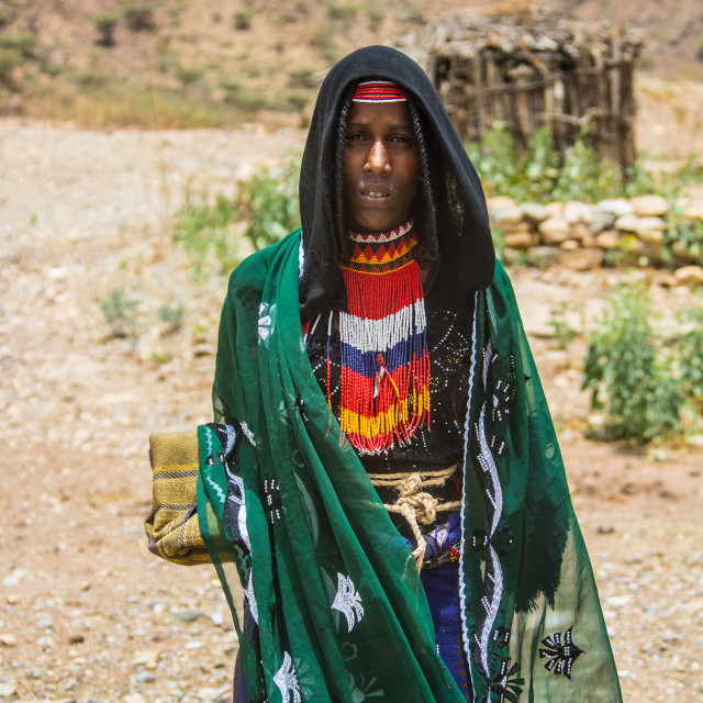 """Afar woman in the north of Ethiopia."" stock image"