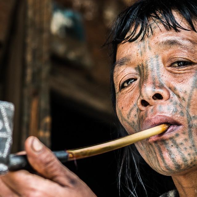 """Chin woman (Myanmar)"" stock image"
