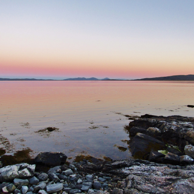 """Berneray Coastal Sunset"" stock image"